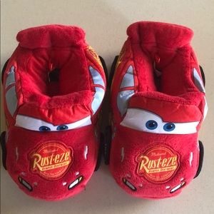 Disney Cars Red Plush Slippers Lightning McQueen